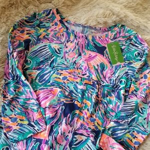 Lilly Pulitzer Linden dress Seas the Day print Med